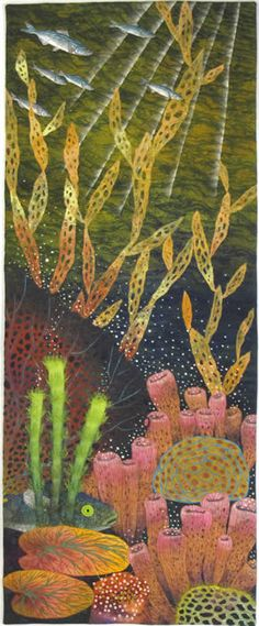 Coral Spawn, a Waterscapes quilt by Betty Busby