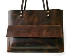 Tote Bag / Leather / Chestnut Brown / Carry-all / от RueDePapier