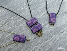 Sea Flower Pendants in polymer clay by Janine Müller