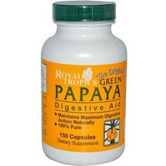 ROYAL TROPICS GREEN PAPAYA DIGESTV, 150 CAP Royal Tropics (to aid digestion in high-protein diets)