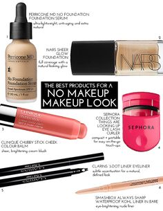 The Best Products For A NO-MAKEUP Makeup Look | theglitterguide.com