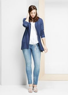 Cotton-blend cardigan | VIOLETA BY MANGO