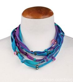 Here's a great way to create a necklace with fabric and the cover stitch on a serger. As seen on Nancy Zieman's Blog and Sewing With Nancy online at nancyzieman.com