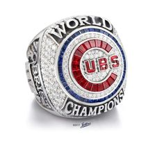 Real Handmade Chicago Cubs 2016 MLB World Series Championship Rings with extremely high quality. Beautiful crystals were selected and inlay on the top of these Championship Rings. It is a great gift to your friends and families, also it is a wonderful co Baseball Ring, Chicago Cubs Baseball, Baseball Park, Baseball Stuff, Chicago Cubs World Series, Mlb World Series, World Series Rings, Nascar Champions, Super Bowl Rings