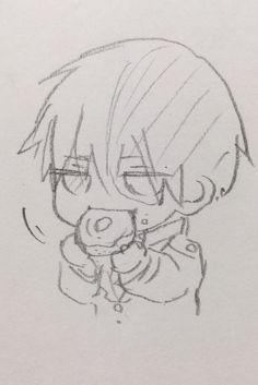 Art Drawings Sketches Simple, Kawaii Drawings, Cute Drawings, Anime Character Drawing, Manga Drawing, Character Art, Sketch Drawing, Cartoon Art Styles, Anime Sketch