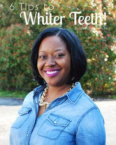 How to get Whiter teeth and how to keep them white. Love the bonus tip!