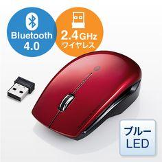 Bluetoothと2.4Ghz、2通りの接続方法が選べるワイヤレスコンボマウス。Android対応。クリック音が小さめの静穏タイプ。マウス事態に熱がこもらない空洞付き設計。【WEB限定商品】