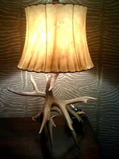 Antler Lamp created from antler sheds found on our ranch.