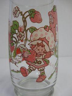 Vintage Strawberry Shortcake Drinking Glass// by MintMarketHome, $8.00