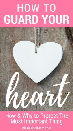 When it comes to growing in grace, you must guard your heart. It's the most important thing to protect, but how do you guard it and why? Christian Women, Christian Living, Christian Life, Protect Your Heart, Guard Your Heart, Spiritual Warfare, Spiritual Growth, Spiritual Practices, Christian Encouragement