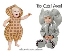 Halloween costume for babies - little peanut and an elephant //halloweeresource.  sc 1 st  Pinterest & Everyone will go bananas over your little bundle in this too-cute ...