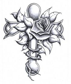 Rose Flower And Cross Tattoo Design : Cross Tattoos Cross Tattoo Designs, Heart Tattoo Designs, Cross Designs, Rose Tattoos, Body Art Tattoos, Tatoos, Anklet Tattoos, Wing Tattoos, Dream Tattoos