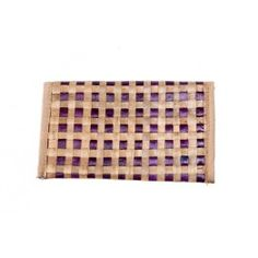 Purple Beige Cross Stitch Cane Wallet