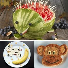 Watermelon Porcupine,  Monkey toast, and the cow jumping over the moon