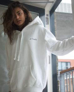 My obsession is style *-* now you understand why Big Sweater Outfit, Hoodie Outfit, Outfits For Teens, Cute Outfits, Corduroy Pinafore Dress, Matching Hoodies, Stylish Hoodies, Next Clothes, Belted Shirt Dress