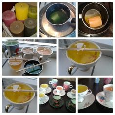Hoe je kaarsen in kopjes kunt maken.