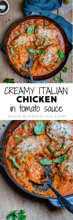 Hey foodies, Who loves skillet/one pan meals ! This Creamy Italian Chicken hits all the right spots 20 min to make creamy amp; tasty Let the Creamy Chicken madness begin Best Italian Recipes, Best Chicken Recipes, Chicken Tomato Sauce Recipe, Keto Recipes, Dinner Recipes, Easy Recipes, Creamy Italian Chicken, Food Videos, Recipe Videos