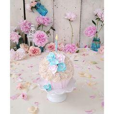 Smash Cake for Heidi Hope Photography. First Birthday. Dessert. Happy Birthday. Cake. Sweet Indulgence. #villageindulgence @Kerricupcake on Instagram