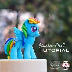 My Little Pony Cake Topper Tutorial