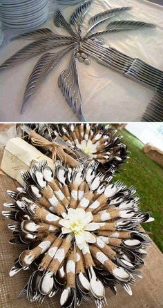 15. Fun cutlery display ideas for wedding table. The Best 31 DIYs and Hacks To Save Money On Your Wedding