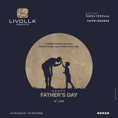 """A father's smile has been known to light up a child's entire day."" June _ Happy Father's Day Fathers Day Post, Fathers Day Images, Fathers Day Quotes, Fathers Love, Happy Fathers Day, Creative Poster Design, Ads Creative, Creative Posters, My Dad My Hero"