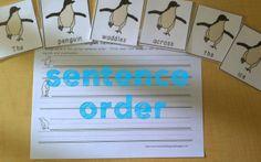 Penguin Literacy Fun- word order