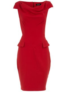 Beautiftul Red Work Dress With Pocket