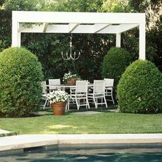 Gazebo, and Arbor Ideas Love the style of this pergola, so simple!Love the style of this pergola, so simple! Diy Pergola, Outdoor Pergola, Wooden Pergola, Outdoor Rooms, Outdoor Living, Outdoor Decor, Pergola Ideas, Outdoor Fabric, Arbor Ideas