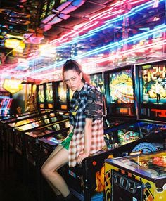 Sophie Koella ~ #model #beauty #fashion #flannel #arcade #tomboy