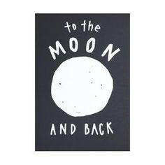 Print - To the Moon #worthynzhomeware wwworthy.co.nz