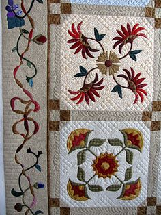 """Barb's Heirloom Applique quilt""  -  The Secret Life of Mrs. Meatloaf: Gallery of Customer Quilts"