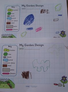Garden / Park design template for Percy the Park Keeper