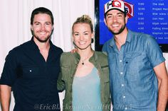 Nerd HQ 2015 - Stephen Amell, Yvonne Strahovski, Zachary Levi. An arrow/chuck crossover would have been awesome!