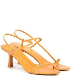 "Strappy sandals ""Bare"" by The Row Tory Burch, Spring Shoes, Summer Shoes, Laura Biagiotti, Strappy Sandals, Leather Sandals, Karl Lagerfeld, Emporio Armani, Salvatore Ferragamo"
