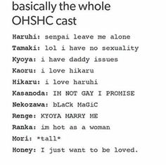 Ouran High School Host Club Tamaki and Mori have me cracking up 😂😂 Ouran Highschool Host Club, Ouran Host Club, High School Host Club, Manga Comics, Marvel Comics, I Love You Honey, My Love, Host Club Anime, Boko No Hero Academia