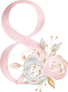ideas for birthday ideas pictures Diy And Crafts, Paper Crafts, Alphabet And Numbers, 8th Of March, Baby Art, Flower Frame, Wallpaper Backgrounds, Envelopes, Floral