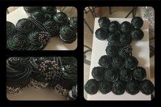 Little black dress bridal shower cupcake cake I made!