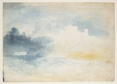 Joseph Mallord William Turner, 'Bamburgh Castle, Northumberland' c.1837 (J.M.W. Turner: Sketchbooks, Drawings and Watercolours) | Tate