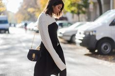 storm wears chloé drew bag in black with cameo collective dress and edited the label sweater berlin street style theadorabletwo