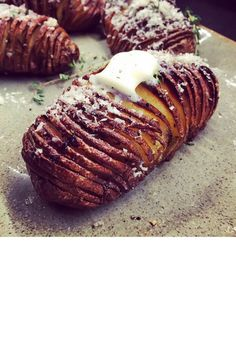 The model (and master chef, practically) topped herb-roasted hasselback potatoes with butter and parmesan, adding yet another mouthwatering photo to her food-filled Instagram account. @chrissyteigen   - Delish.com