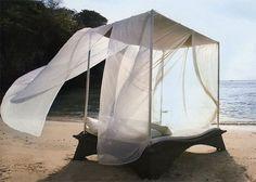 Exotisches Himmelbett Mit Gestell Strand Möbel Ideen