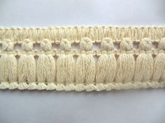 Natural Cotton Flat Tassel Fringe 2 Inch Sold By The Yard at Dove Originals Trims | Cording, Lace Trim, Fabric Fringe
