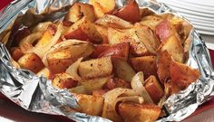 BBQ Potatoes are the perfect side dish for any tailgate feast. #Recipe