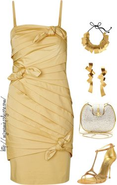 """A Golden Affair....."" by mzmamie on Polyvore"