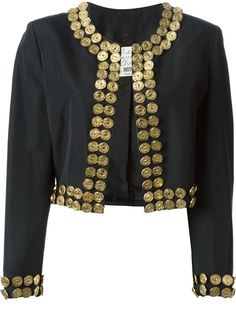 Shop Moschino Vintage metal coin detail jacket in House of Liza from the world's best independent boutiques at farfetch.com. Shop 300 boutiques at one address.