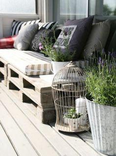 meuble en palette, salon de jardin en palette, fauteuil en palette