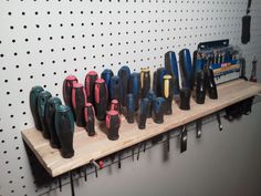 peg board woodshop organization - Google Search