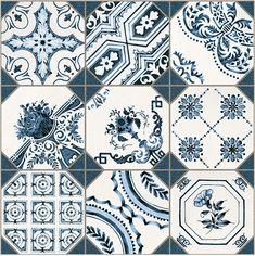 Lantlig platta från Lhådös med Portugisiska anor. Inspirerad mönstring kombineras med ett blåljungande färgtema för att ge rummet en rustik och gammeldags atmosfär. Ett utmärkt val för att ge ditt kök eller badrum ett lantligt lyft.