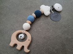 Rasseln & Greiflinge – MaxiCosi Anhänger *freie Farbwahl* 'ElefantWolke' – ein… Rattles & Teething Toys – MaxiCosi Pendants * free choice of color * 'Elephant Cloud' – a unique product by schoen_und_selbstmachen on DaWanda Crochet Pacifier Clip, September Baby, Best Baby Toys, Newborn Toys, Nursing Necklace, Unique Baby Gifts, Teething Toys, Baby Rattle, Cute Toys