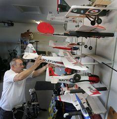 Radio Control RC Airplane Wall Hanger Storage Rack System ...